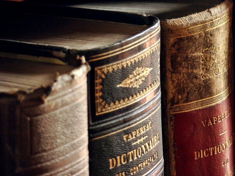 photo de dictionnaire trouvé sur Xchange