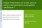 Mémoire de recherche sur l'évaluation de l'information sur le web