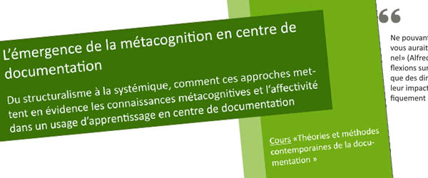 métacognition en centre de documentation